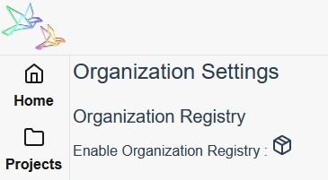 Enable Organization Registry for Docker Images and Helm Charts