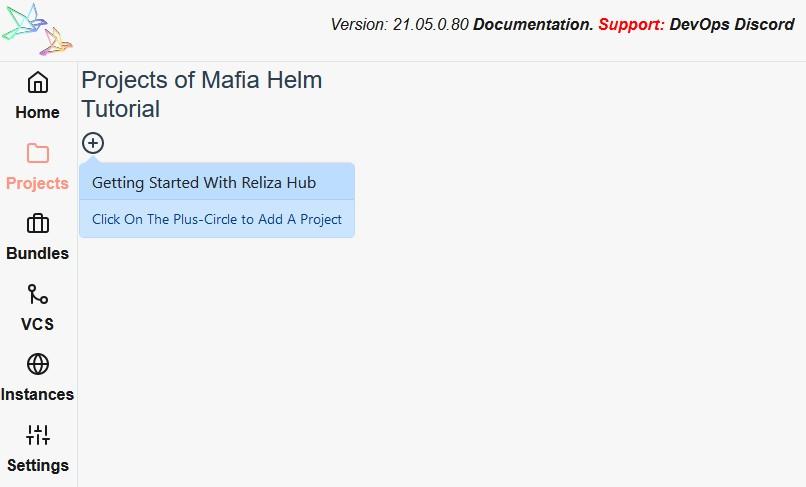 Add a Project on Reliza Hub