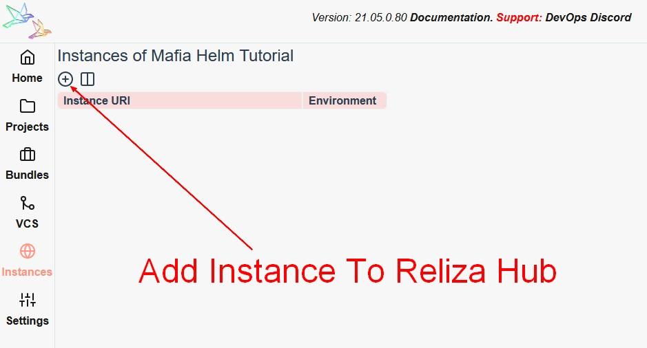 Add Instance To Reliza Hub