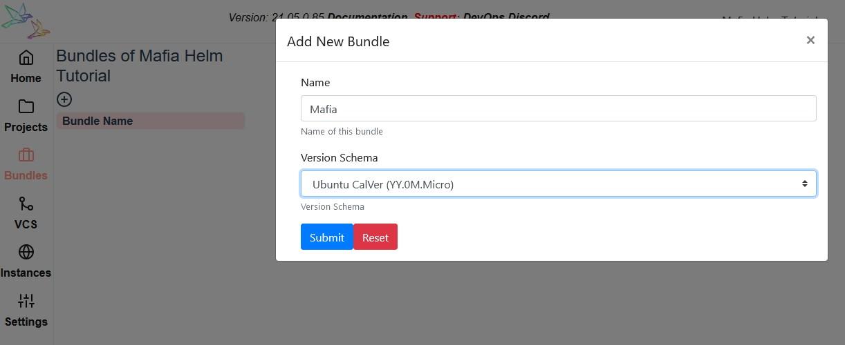 Add Mafia Bundle on Reliza Hub