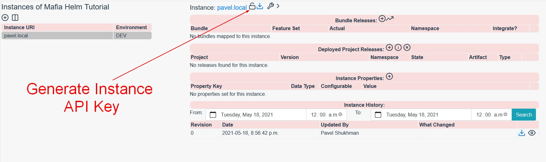 Generate Instance API Key